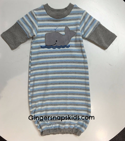 Cach Cach Grey Whale Gown (sz 0/3m)