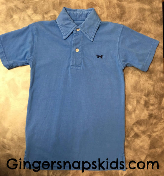 Wes and Willy Jack Thomas Azure Blue Polo (sz 2T-7) | SPRING 2017 PREORDER