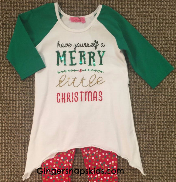 Haven Girl Merry Little Christmas Tunic (sz 7-14) |