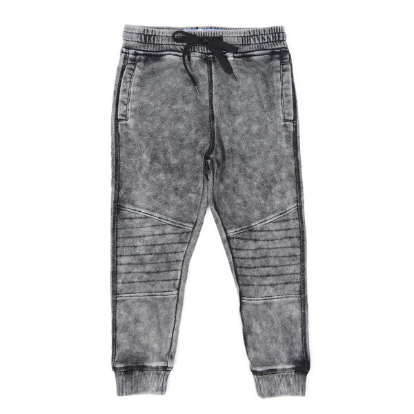 Kapital K Grey Washed Biker Jogger Pants (sz 12m-6) | FALL 2017 PREORDER