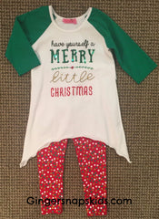 Haven Girl Merry Little Christmas Tunic & Leggings Set (sz 4-14) | FALL 2017 PREORDER