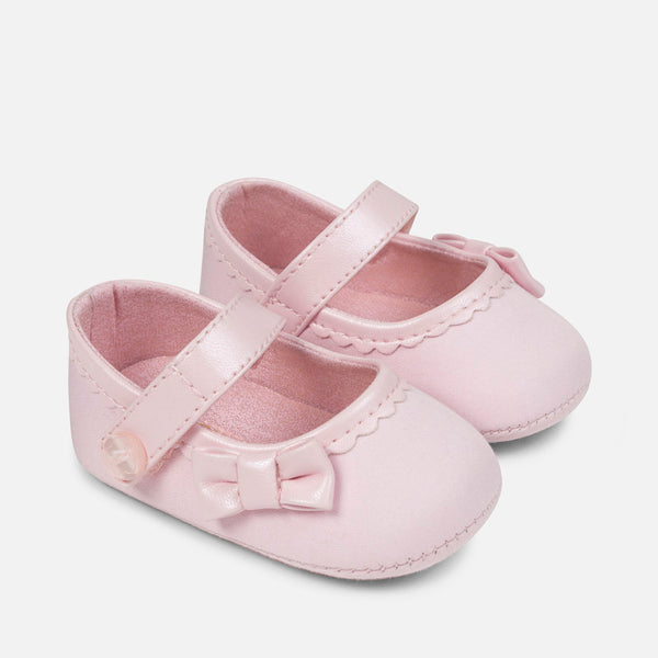 Mayoral Girls Pink Maryjanes (sz 0-9m)