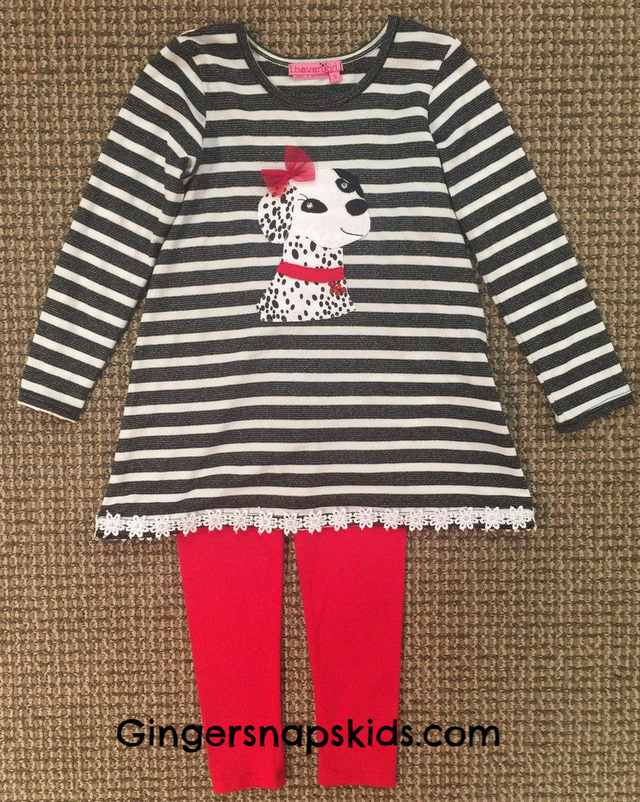 Haven Girl Live Love & Wag Kendall Tunic & Leggings Set (sz 4-10)
