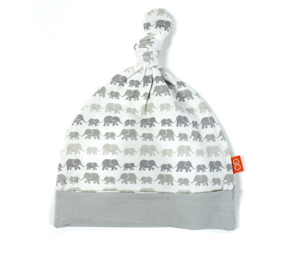 Magnificent Baby Unisex Modal Grey Dancing Elephants Hat