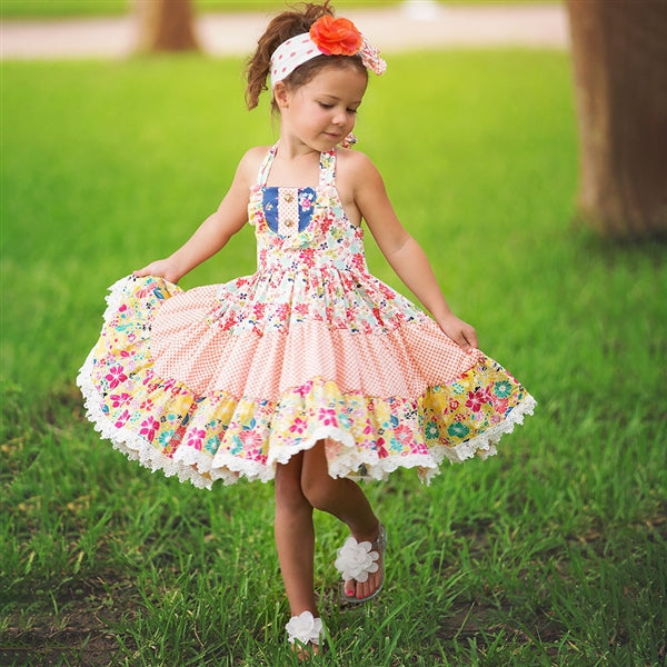 Haute Baby Girls Calypso Twirling Dress (sz 2T-10) SPRING 2018 PREORDER