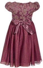 Embroidered Dress with Peplum (Longer)
