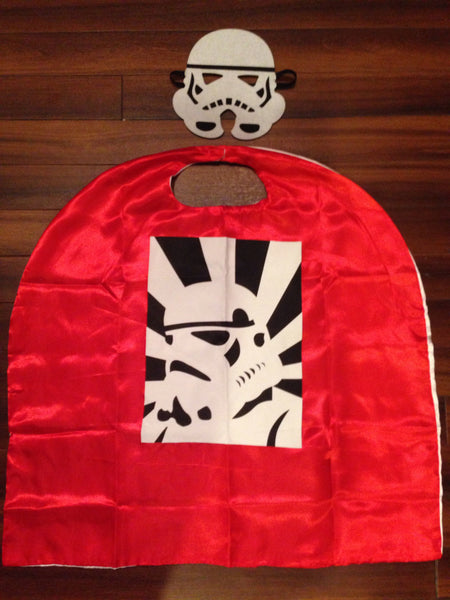 Storm Trooper Cape and Mask Set