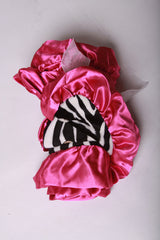 Baby Girls Adorable Hot Pink and Zebra Ruffle Blanket
