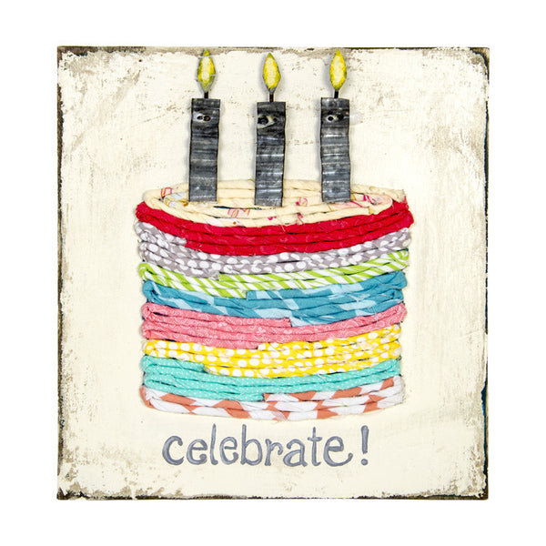 Fabric Birthday Cake Plaque