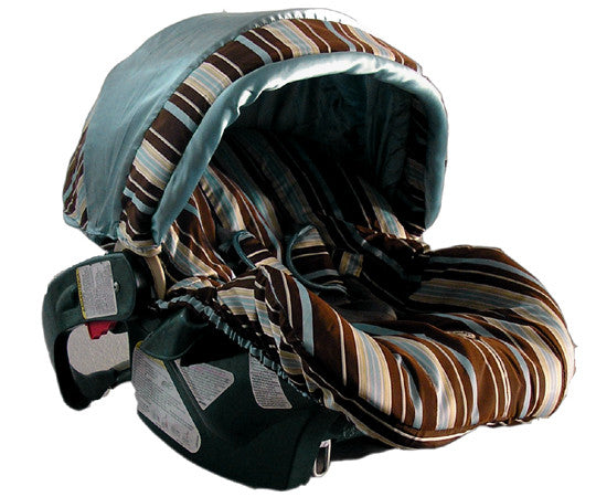 Blue Stripe Infant Car Seat Replacement Cover (one size fits most models)