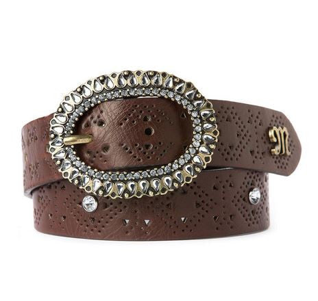 Miss Me Girls Brown Laser Cut Belt (sz 7-14)