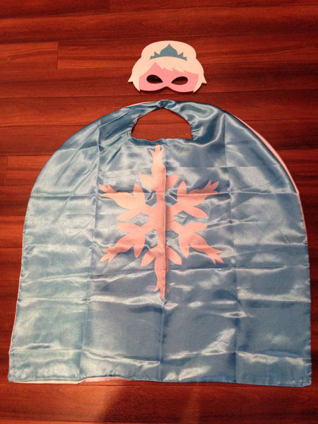 Frozen Snow Princess Cape and Mask Set