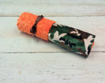 Camo/Orange Minky Original Mimi Blanket