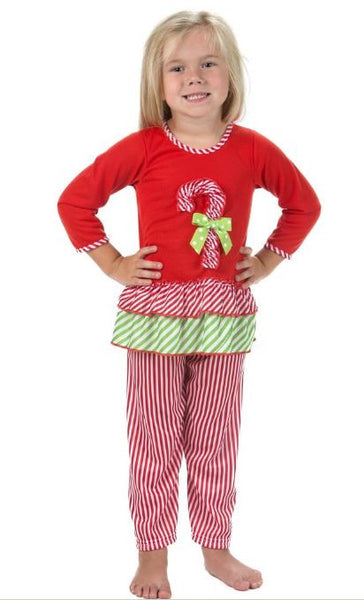 Laura Dare Magical Dots Candy Cane L/S Pajamas (sz 12m, 24m, 8 last ones)