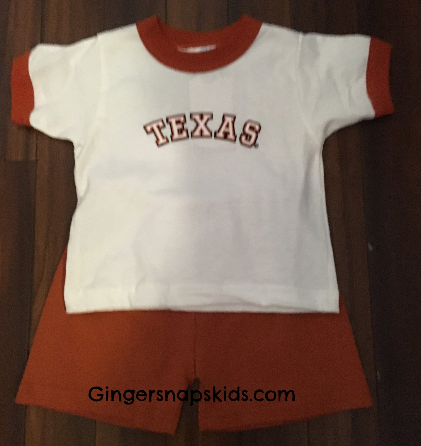University of Texas Ringer Short Set (sz 2-4)