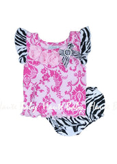 Haute Baby Sweet 'N Sassy Diaper 2pc Set (sz 0-3mo-6-9mo)