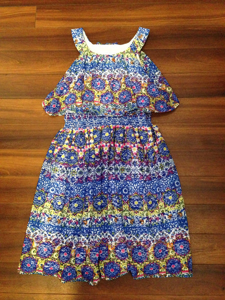 Tribal Floral Printed Dress (sz 7-16)