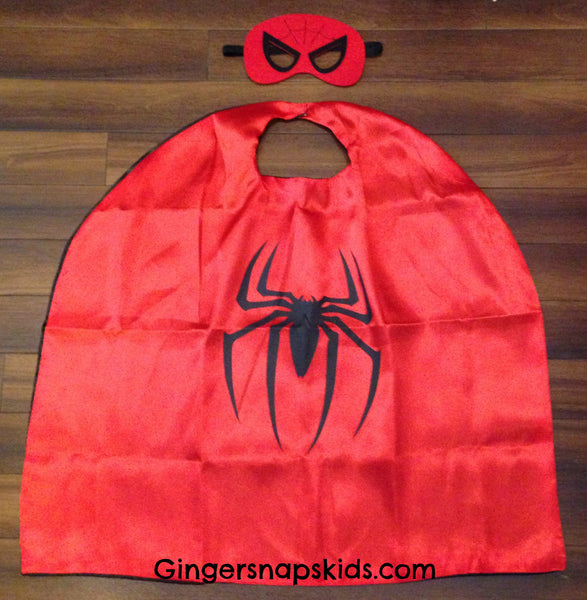 Spiderman Super Hero Cape and Mask Set
