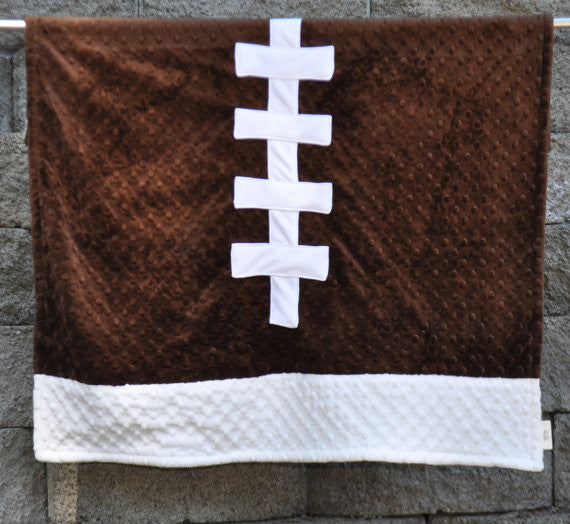 Football Minky Dot  Blanket