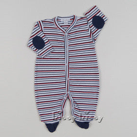 Kissy Kissy Boys First Responder Stripe Footie (sz 3/6m)