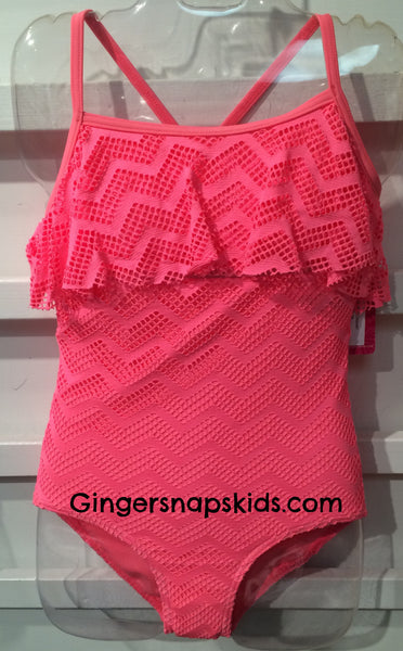 Gossip Girl Endless Summer Crochet 1 Piece Swimsuit (sz 7-14)