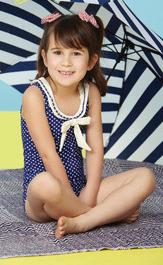 Hula Star/Gossip Girl Ocean Dot 1 Piece Swimsuit (sz 2T-4T)