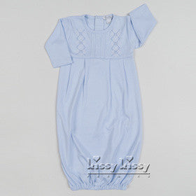 Kissy Kissy Boys Baby Argyle Gown (sz NB, 0/3m)