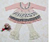 Giggle Moon Graced Tutu Dress & Leggings Set (sz 3m-6X)