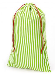 Green Stripe Santa Sack (monogram not included but can be added)