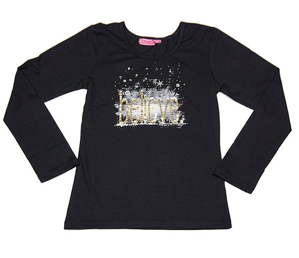 Haven Girl Merry Everything Believe Tee (sz 4 & 14)