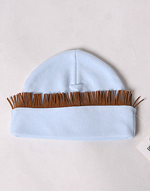 Haute Baby Boys Rodeo Chuckwagon Gang Blue Cowboy Fringe Hat