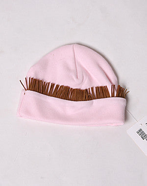Haute Baby Girls Rodeo Queen Pink Boot Fringe Cap
