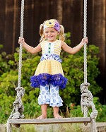 Giggle Moon Heaven Sent Tutu Dress & Capri Set (sz 6m-6X)
