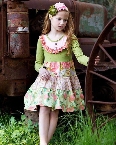 Giggle Moon Harvest Fields Party Dress (sz 3m-8) FALL 2015 PREORDER