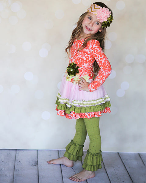 Giggle Moon Harvest Fields Tutu Dress & Leggings Set (sz 3m-6X) FALL 2015 PREORDER