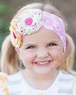 Giggle Moon Honeycomb & Blossoms Knit Headband (sz Toddler)