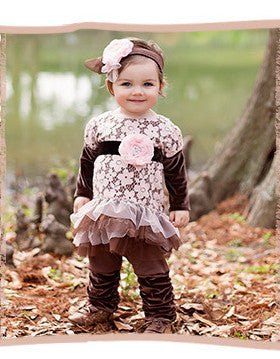 Haute Baby Cocoa Chic Tunic Set (sz 12m-6) FALL 2015 PREORDER