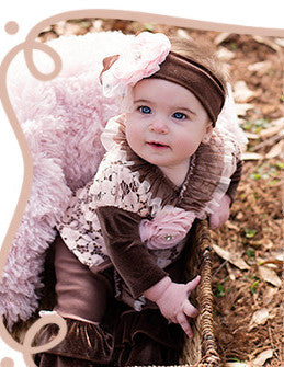 Haute Baby Cocoa Chic Criss Cross Set (sz 0-3m-12m) FALL 2015 PREORDER