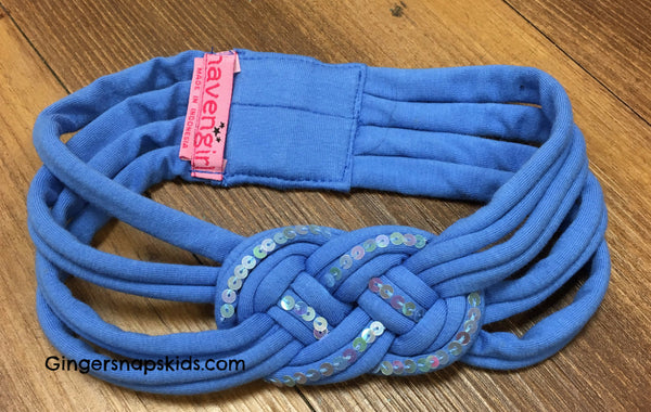 Haven Girl Unicorn Blue Braided Headband