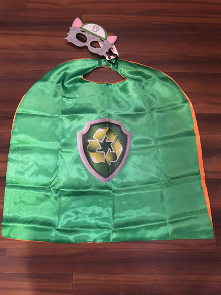 Rubble Super Hero Cape and Mask Set