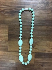 Oval Bead Teething Necklace