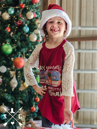 Have yourself a Merry Christmas Camper Kids Shirts (sz 6/8-10/12)