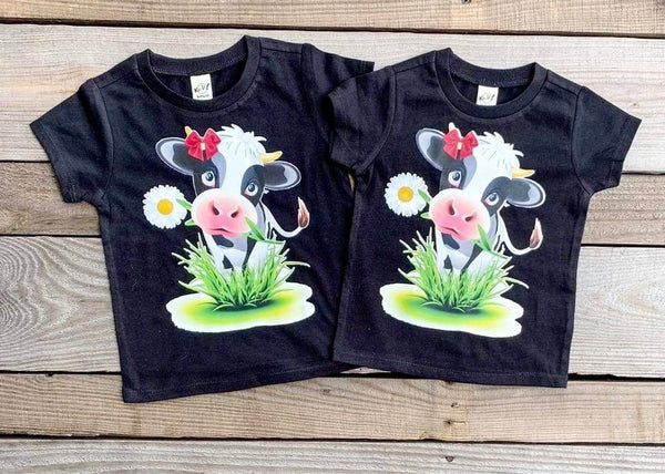 Moo! Kids Cow Tee
