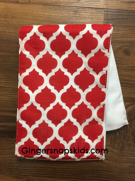 Mud Pie Red Print Burp Cloth