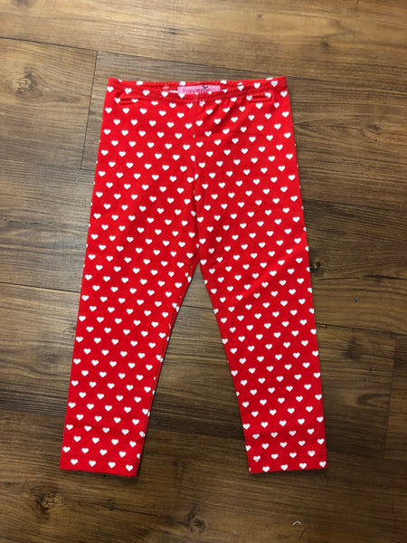 Haven Girl Valentine Heart Capri Legging (sz 4-6x)