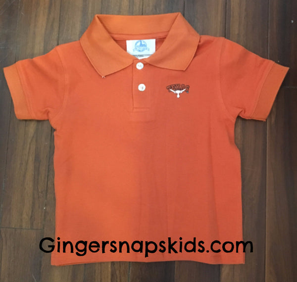 University of Texas Solid Golf Polo Shirt (sz 2-4)