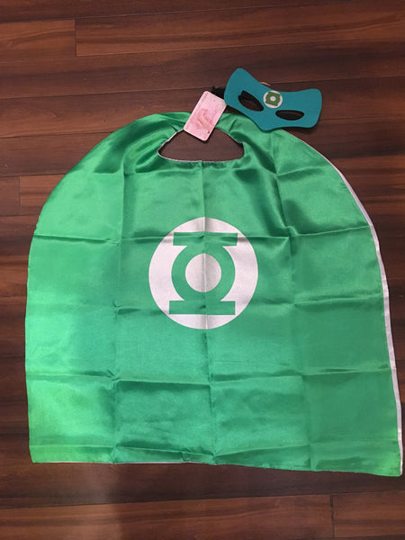 Green Lantern Super Hero Cape and Mask Set