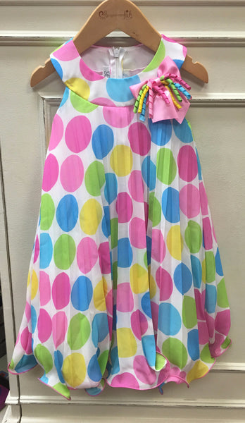 Multi Dot Party Dress (sz 2T-4T)
