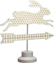 Tin Pedestal Sign- Bunny Arrow