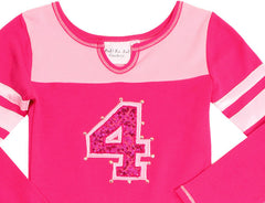 Ooh La La Couture Pink/Hot Pink Varsity Birthday Dress (#1, #2, #3...up to #12) Sz 12mo-12